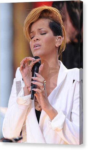 Rihanna Canvas Print - Rihanna On Stage For Good Morning by Everett