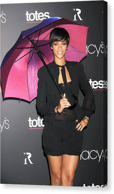 Rihanna Canvas Print - Rihanna Wearing Matthew Williamson by Everett