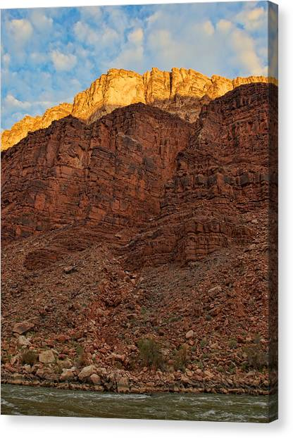 Rim Gold Canvas Print