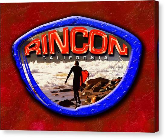 Rincon Logo Canvas Print by Ron Regalado