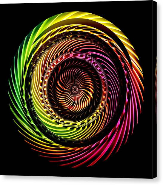 Canvas Print featuring the digital art Ring Of Fire by Visual Artist Frank Bonilla
