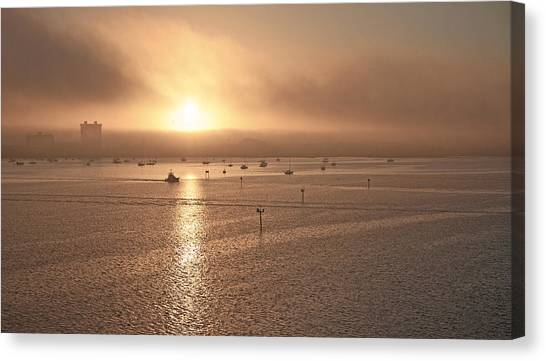 City Sunrises Canvas Print - Ringling Bridge Morning by Betsy Knapp