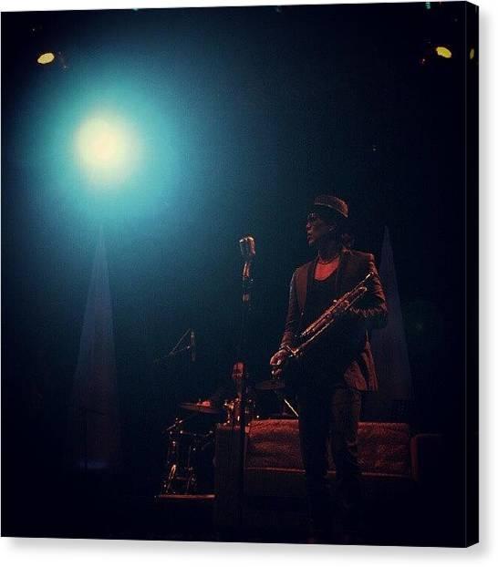 Trumpets Canvas Print - Rio Sidik #jazz #blue #stage #light by Renaldy Mario Ranti