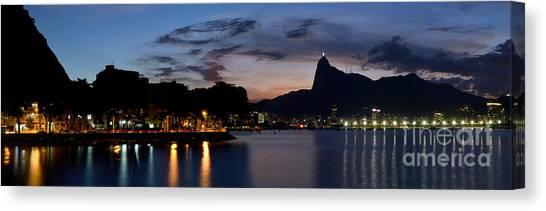 Rio Skyline From Urca Canvas Print