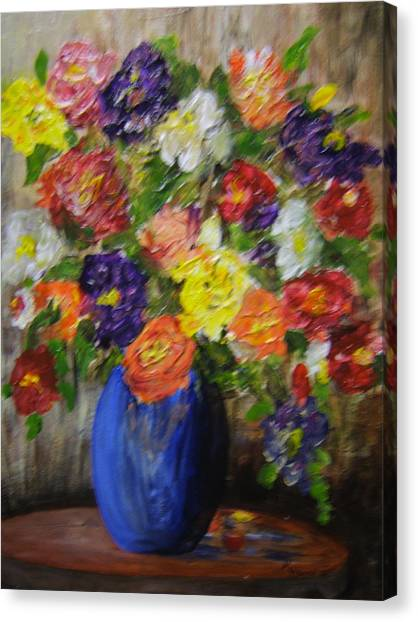 Riot Of Flowers Canvas Print