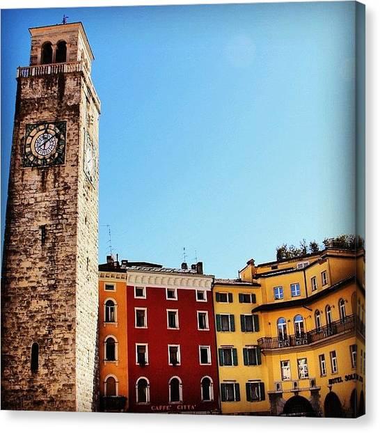 Italian Canvas Print - Riva Del Garda by Luisa Azzolini