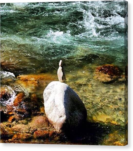 Green Canvas Print - River by Luisa Azzolini