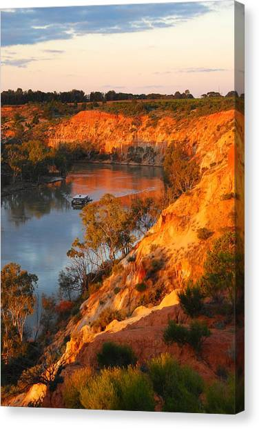 River Murray At Sunset Canvas Print by Patricia Tapping