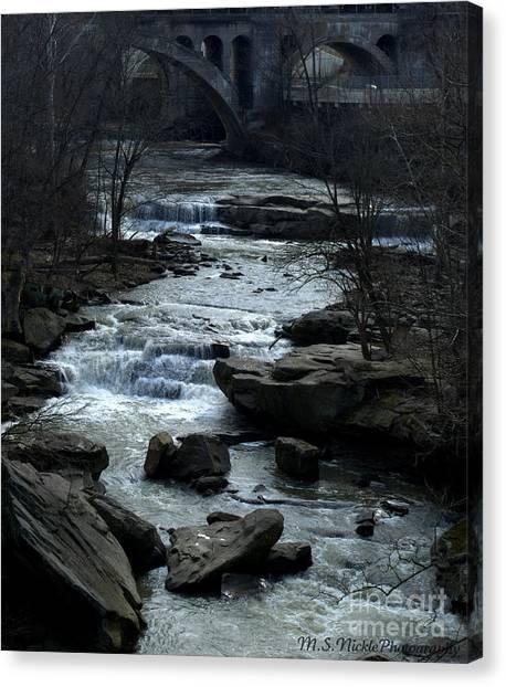 River Rapids Canvas Print by Melissa Nickle
