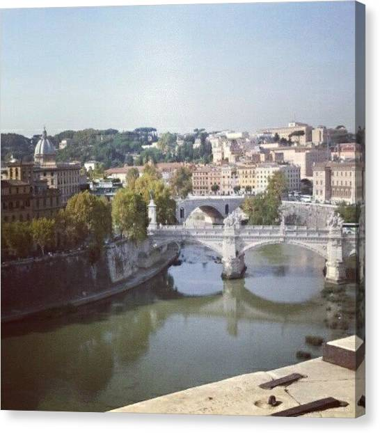 Rome Canvas Print - River Tiber by Aimee White