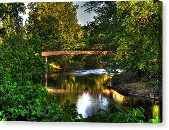 River Walk Bridge Canvas Print