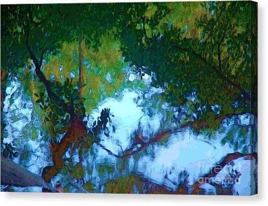 Riverbank Reflections2 Canvas Print
