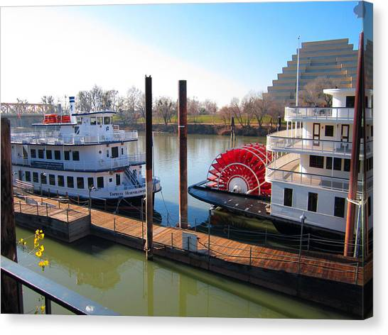 Riverboats Canvas Print by Barry Jones