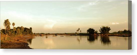 Canvas Print featuring the photograph Riverside Sunset by Stefan Nielsen