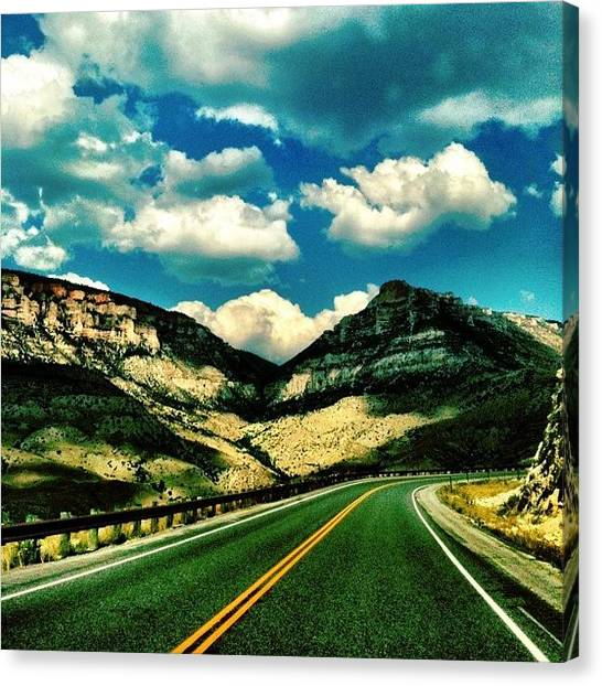 Wyoming Canvas Print - Road Through Yellowstone by Christopher Campbell