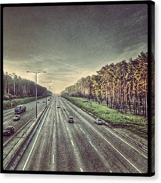 Russia Canvas Print - Road To Airport. #implus_daily by Igor Che 💎