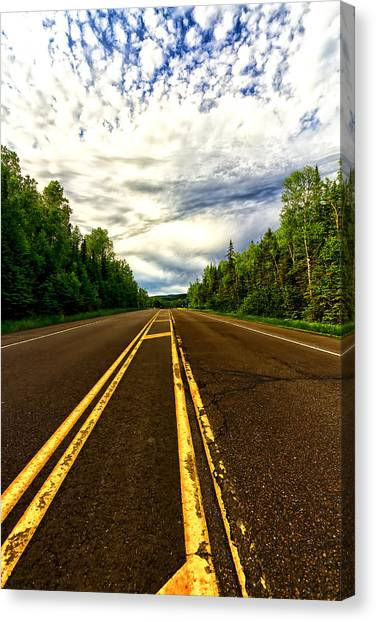 Road To Canada Canvas Print
