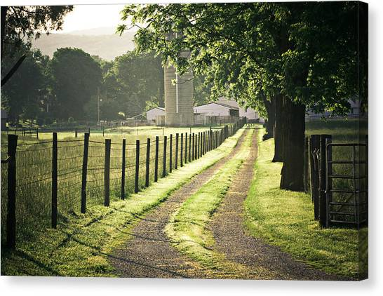 Road To The Farm Canvas Print