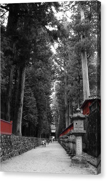 Monks Canvas Print - Road To The Temple by Naxart Studio