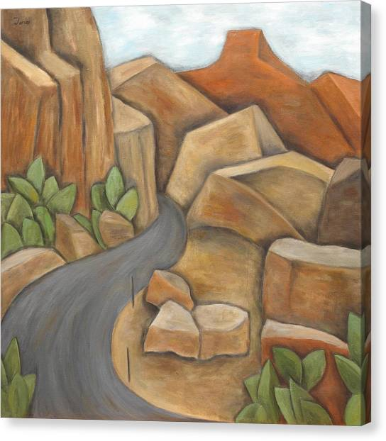 Road To Zion Canvas Print