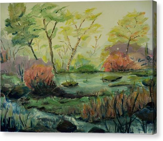 Roadside Pond Canvas Print