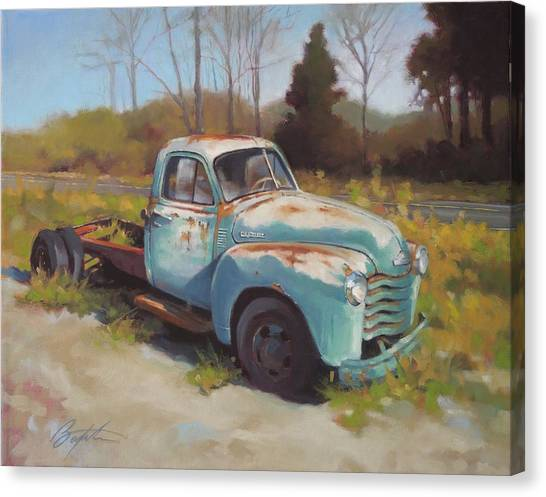 Roadside Relic Canvas Print by Todd Baxter