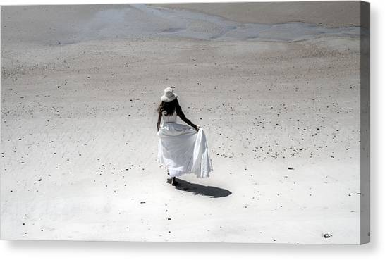 Wedding Gown Canvas Print - Roaming by Betsy Knapp