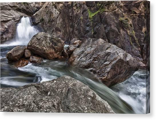 Roaring River Falls Canvas Print by A A