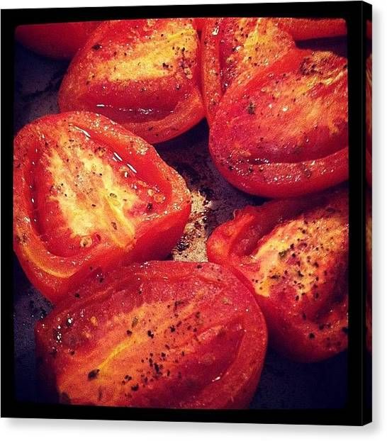 Roast Canvas Print - Roasted Tomatoes  by Anna Avagliano