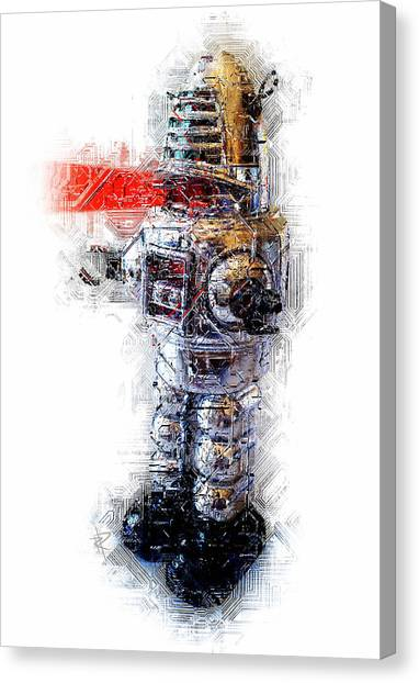 Forbidden Planet Canvas Print - Robbie The Robot by Russell Pierce