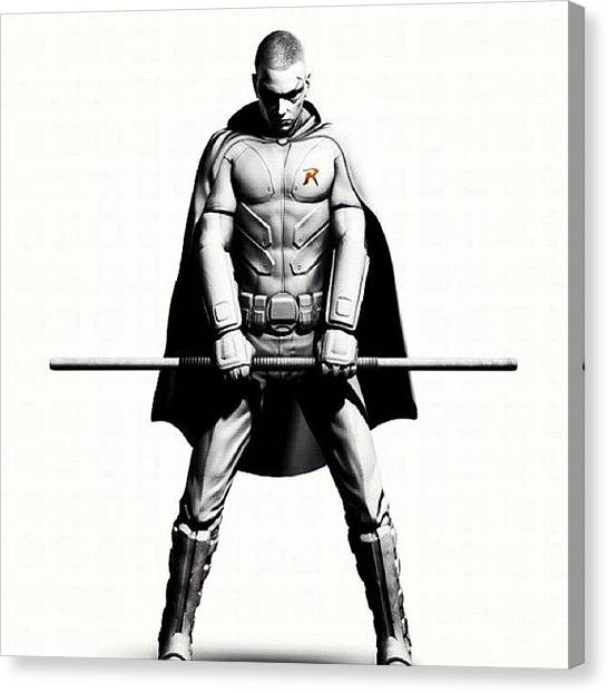 Knights Canvas Print - Robin by Carlos Shabo