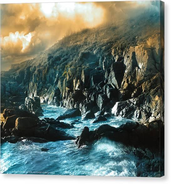 Roca De Percebes Canvas Print