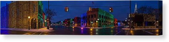 Christmas Lights Canvas Print - Rochester Christmas Lights by Twenty Two North Photography
