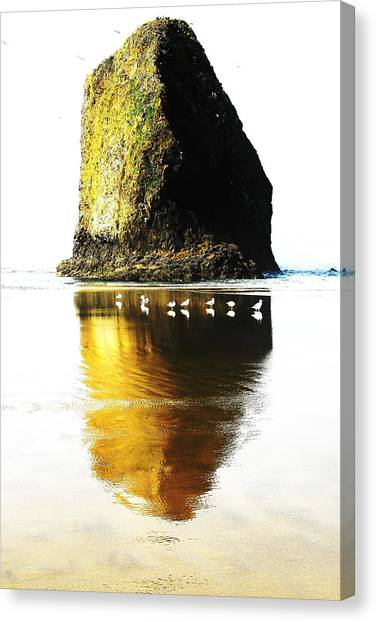 Rock At Silver Point Oregon Canvas Print