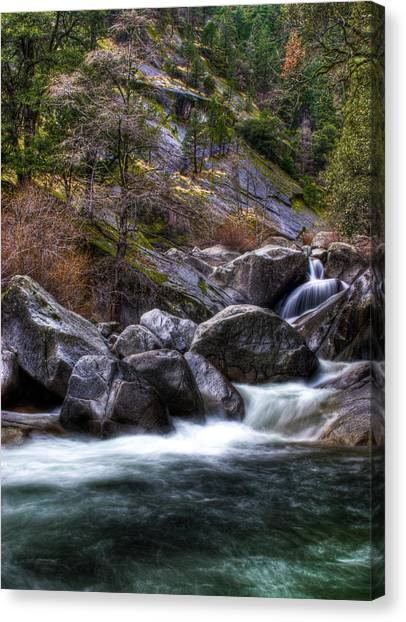 Rock Creek Canvas Print by Ren Alber