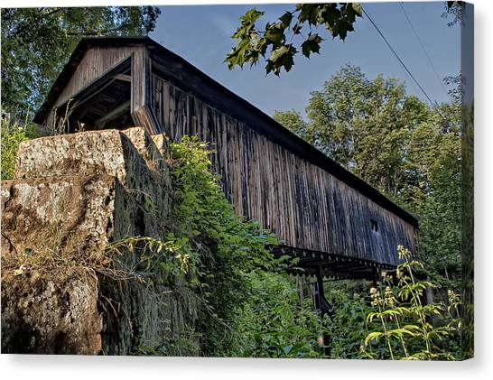 Rock Creek Road Covered Bridge Canvas Print