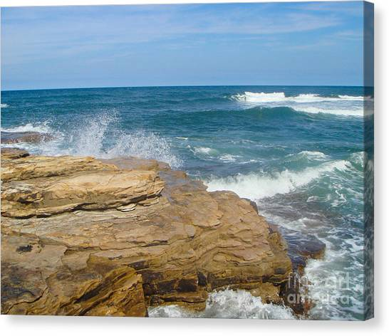 Rock Formation Dunbar Canvas Print