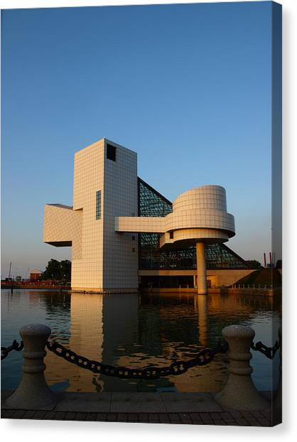 Rock Hall In The Evening Canvas Print by Allan Wrona