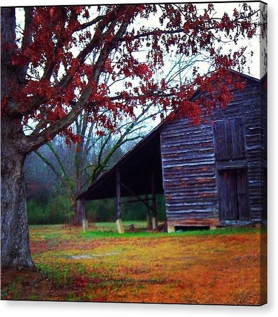 Barns Canvas Print - Rock Hill, Sc by Aaron Justice