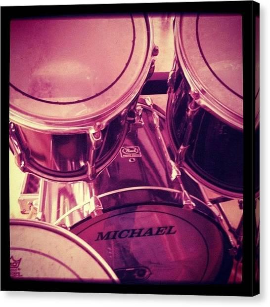 Percussion Instruments Canvas Print - #rock #rocknroll  #punk #punkrock by Marco Santos