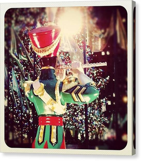 Flutes Canvas Print - Rockefeller Christmas by Laura Douglas