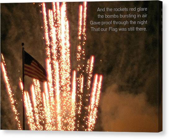 Rockets Red Glare Canvas Print