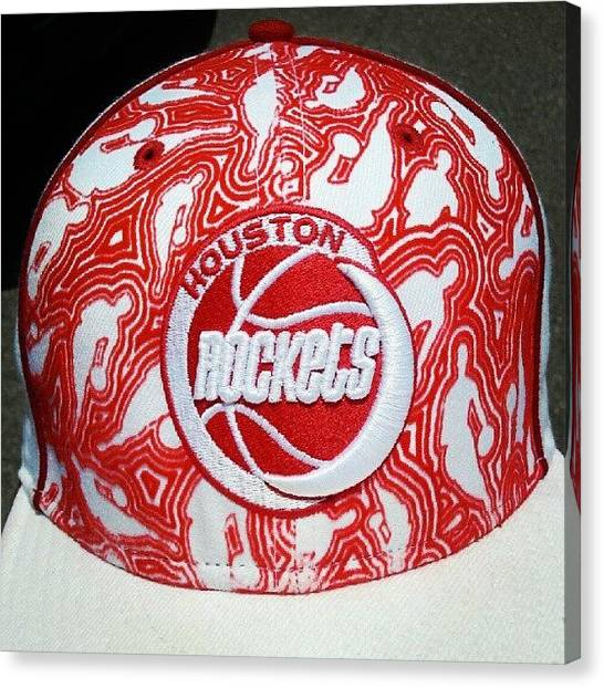 Basketball Teams Canvas Print - Rockets Throwback Hat. #hatoftheday by Fernando Ostos