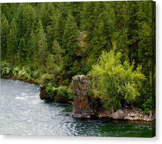 Canvas Print featuring the photograph Rockin The Spokane River by Ben Upham III