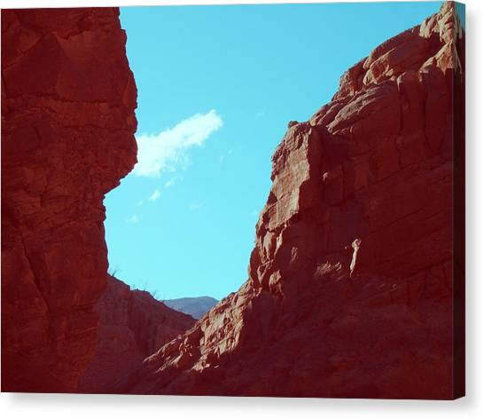 Death Valley Canvas Print - Rocks And Sky by Naxart Studio