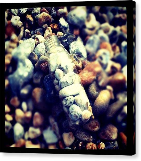 Environment Canvas Print - Rocks In A Bottle by Daniel Hills