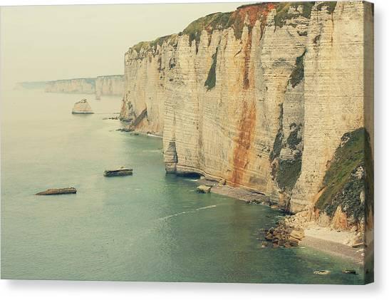 Etretat Canvas Print - Rocks In Etretat, France by Photo by Ira Heuvelman-Dobrolyubova
