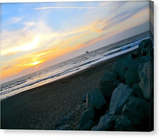 Sunset Horizon Canvas Print - Rocks by JBDSGND OsoPorto