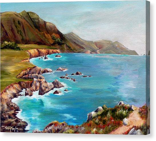 Rocky Point At Big Sur Canvas Print