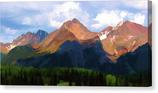 Rocky Red Mountains Canvas Print